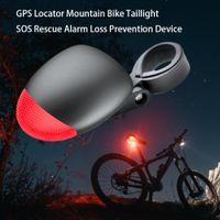 mountain bike gps venda por atacado-Localizador GPS da bicicleta Mountain Bike Taillights SOS Alarme de Resgate Anti Perdido Dispositivo GPS Tracker da bicicleta Long Standby Verificando Localizador