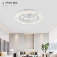 Wholesale mounted wall fan resale online - Xiaomi Youpin HuiZuo Intelligent Ceiling Fan Light Lamp Invisible Crescent White FS33 FS34 Indoor Light Fixtures