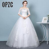 neue kostenlose heiße fotos großhandel-2018 reale Fotos Freies Verschiffen Neue Heiße Verkaufende Preiswerte Elegante Ballkleid Schnüren Sich Oben Formale Braut Kleider Hochzeitskleid