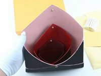 дамский белый простой кошелек оптовых-Бесплатная доставка дизайнер роскошные сумки портмоне 3 комплект бренд кошельки держатель карты кошельки мода сумка для хранения с коробкой 62034