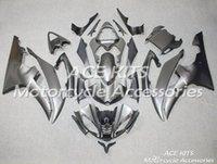 yamaha r6 gri toptan satış-ACE KITS YAMAHA YZF R6 2008-2016 Için Motosiklet fairing Enjeksiyon veya Sıkıştırma Kaporta