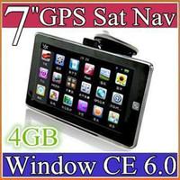 tarjetas de video chinas al por mayor-Nuevo dispositivo GPS de 7 pulgadas Navegación GPS para automóvil AV-in Tarjeta de 4GB + 128MB RAM CAR DVD
