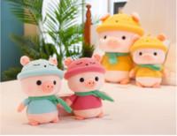 kız doldurulmuş oyuncaklar toptan satış-Doldurulmuş Makine oyuncak hayvan bebek PP Pamuk Peluş Oyuncak Karikatür Domuz Doldurulmuş oyuncak İyi Kız Çocuk Oyuncakları İçin