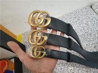 7ffb4a7af now Designer High quality cowskin G# belt double buckle real leather male  designer belt for men women size wide 2.0 3.4 3.8 cm box 11