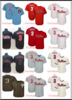 camisetas rojas de beisbol al por mayor-3 Bryce Harper Jersey Philliesss Flex Base para hombre Malla Retro Blanco rojo azul gris Cool Base Jugador Camisetas de béisbol