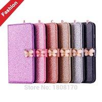 galaxy s6 bling wallets fall großhandel-großhandel bling glitter diamant brieftasche ledertasche für samsung galaxy s5 s6 rand j310 j510 j710 a510 a310 a3 a5 2017 abdeckung 50 stück