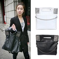 hobo estilo coreano bolso al por mayor-Lady Girls Fashion estilo coreano Pu cuero Hobo bolso bandolera Fab Women Bag