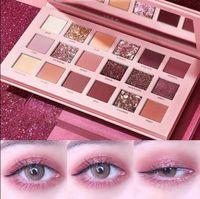 Wholesale huda beauty eyeshadow 18 colors resale online - HUDA BEAUTY The New Nude colors Eye Shadow Palette Desert Rose Eyeshadow Palette Pearl Matte Earth
