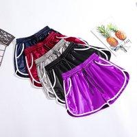pantalones anchos coreanos al por mayor-Verano mujer moda coreano sueltos pantalones cortos de cintura alta pantalones anchos ocasionales de la pierna ancha más el tamaño M-XXL pantalón para el deporte