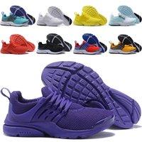 мужская обувь оптовых-Nike Air Presto Flyknit Ultra Presto белый черный конус кроссовки Высочайшее качество конус муслин мужские женские size5.5-11 кроссовки дополнительная обувь кружево Tag бесплатная