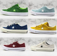 erkekler için deri ayakkabı paten toptan satış-2019 autumn and winter new Converse One Star designer shoes suede canvas stitching men and women casual shoes Kimura one star series skate shoes