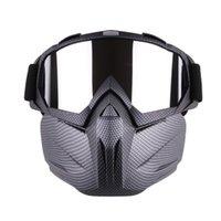 männer gesicht maske winter großhandel-USA Versand Radfahren Brille Gesichtsmaske Männer Frauen Ski Schneemobil Brille Maske Winter Skifahren Motocross Radfahren Schnee Sonnenbrille # 87176