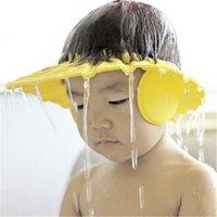 escudos de shampoo para crianças venda por atacado-Tampas Do Chuveiro de bebê Chapéu Escudo Criança Ajustável Bebê Crianças Cap Shampoo Cuidado À Prova D 'Água Do Protetor de Orelha Tampa de Chuveiro GGA1680
