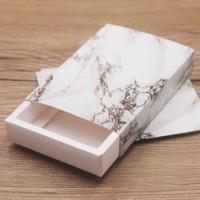 halsketten papier box großhandel-Neue Ankunft Kraftpapiergeschenk-Schaukartonpapier Dreamcatcher / Marmorhalskette / gesetzter Schaukarton des Ohrrings Diy danke Ring / Armband