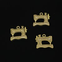 ingrosso macchina di fabbricazione della collana-60pcs bronzo antico placcato vintage cantante macchina da cucire a pedale pendenti di fascini misura fare gioielli collana braccialetto risultati gioielli fai da te