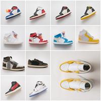 zapatillas de baloncesto mujer original al por mayor-nuevo Con caja original Zapatillas para hombre y mujer zapatillas de deporte blancas 1 1s zapatillas de baloncesto zapatillas de diseñador Powder Blue UNC Athletic Sport Sneakers