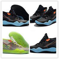 2019 Nuevo Llega Kevin Durant XII KD 12 Triple Negro Verde 12 Zapatos de Baloncesto Para Buena Calidad Zapatillas de deporte de Entrenamiento Para