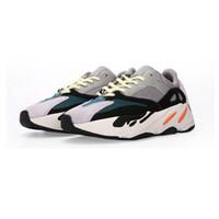 Wholesale art online - 700 V2 Wave Runner Geode Static Salt Inertia OG Solid Grey Mauve Mens Kanye West Running Shoes Women Sports Athletics Sneakers With Box