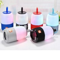 Wholesale mp3 player speaker light for sale - Group buy New TG608 Night Lamp Colourful Wireless Bluetooth Speaker Mini Protable LED Light Flash AUX TF USB FM Radio Mp3 Music Player DHL