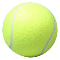 ingrosso grandi palline giocattolo gonfiabili-Promozione 24cm Large Dog Ball per Pet Chew Toy Pet Puppy Gonfiabile Tennis Ball Lanciatore Chucker Launcher Gioca Toy for Dogs