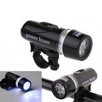 el feneri dağı toptan satış-Bisiklet Lambası Torch 5 LED Işıkları Dağ Bisikleti Aksesuarları Taşınabilir Ön Baş Işık Ekipmanları Plastik El Feneri LJJZ745