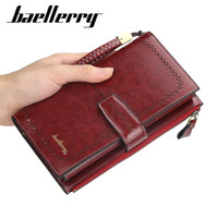 Wholesale long iphone clutch resale online - Women Clutch New Wallet PU Leather Wallets Female Long Wallet Women Zipper Purse Money Bag For iPhone Plus N1629