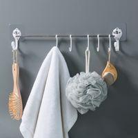 Wholesale utensil racks resale online - Kitchen Utensils Rack Holder Ceiling Wall Cabinet Hanging Rod Storage Organizer Stainless steel link kitchen supplies A30621