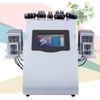 vakum makineleri toptan satış-6 IN 1 Ultrason Kavitasyon Makinesi Kavitasyon Lipolaser RF Vakum Zayıflama Vücut Heykel Şekillendirme Serin Yüz Kaldırma Ekipmanları