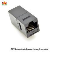Wholesale ide adapters online - CAT6 unshielded pass through module Gold plated UTP network module RJ45 connector Cable adapter Keystone Jack