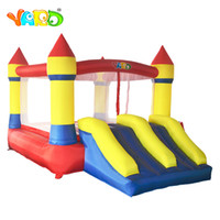 diapositivas inflables para la venta al por mayor-YARD Easy Operate Inflatable Bounce House Happy Children Jumping House Inflatable Bouncer Combo with Slide para la venta