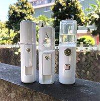 güzellik nano toptan satış-Taşınabilir Yüz Sprey Şişe Nano Mister Yüz Saç Vapur Ultrasonik Ozon Yüz Püskürtücü Soğuk Güzellik Nemlendirici Cilt Bakımı Araçları