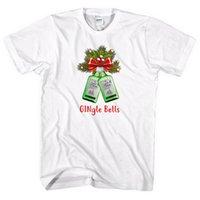 idee weihnachten großhandel-Gingle Bells Weihnachten T-Shirt Gin Tonic Fan Geschenkidee Geschenk Männer Lady L360 Größe Discout Heiße neue Tshirt Trump Sweat Sporter T-Shirt