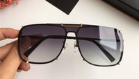 Wholesale spy sunglasses online - Fashion Designer Spy Wayfarer Man Sunglasses Frameless Wrap Style Luxury Glasses Classic Top Quality UV400 Protection Eyewear With Case