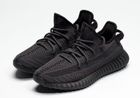 lueur sombre chaussures vente achat en gros de-Static Kanye West noir blanc noir dans les chaussures sombres pour les ventes avec la boîte livraison gratuite chaussures de course magasin en gros US5-US13
