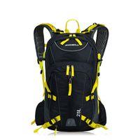 capa de mochila para ciclismo venda por atacado-Sacos de pesca 25L Unisex Esportes Ao Ar Livre Mochila Homens Camping Caminhadas Ciclismo Saco À Prova D 'Água Com Mochila de Água Capacete Net cobrir # 567905