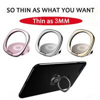 wölbung ipad großhandel-Neue universal fingerring handy ständer 360 grad metall faul halter luxus ultradünne runde schnalle für iphone galaxy samsung ipad