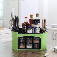 Wholesale condiments storage for sale - Group buy Condiment Seasoning Spice Rack Multifunctional Kitchen Storage Set Kitchen Issued Rack Seasoning Knife Combination Storage