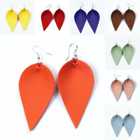 Wholesale gifts for girl teens resale online - 2019 PU Leather Drop Leave Earrings Lightweight Dangle Earrings Charm Handmade Floral Print Drop Earrings For Teens Girls Women Gift M72Y