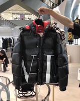 casaco de design para baixo venda por atacado-Os mais recentes Design France marca Men Casual Jacket Down Coats Mens Outdoor gola de pele penas quentes casacos Casaco de Inverno vestido