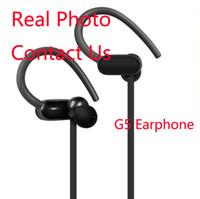 micrófono de gancho para la oreja al por mayor-G5 deportes auriculares inalámbricos Power3 en la oreja auriculares inalámbricos gancho para la oreja popular con el micrófono para el teléfono Android Android envío de la gota