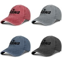 Wholesale cap hats store resale online - Wawa Logo Black and White Unisex denim baseball cap golf design your own cute trendy hats Red Florida Store