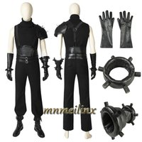 Wholesale HOT Cakes Final Fantasy VII Remake PS4 Game Cosplay Costume and Boots FFVII Cloud Strife Uniform Halloween Outfit Custom Made