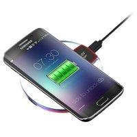 evrensel ışıklar toptan satış-Samsung Galaxy S8 Iphone 8 İçin Şarj Qi Kablosuz Telefon Şarj Taşınabilir Fantezi kristal Evrensel LED Aydınlatma Tablet
