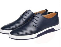 Wholesale graduation dress shoes for sale - Group buy Fashion designer mens summer breathable hollow out casual flat shoes Fashion man walking graduation dress loafer