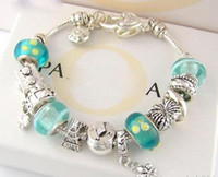 Wholesale a5 fashion resale online - A5 Fashion Charm Bracelet Silver Pandor Bracelets For Women Life Tree Pendant Bangle Charm Jewelry with logo box pouch