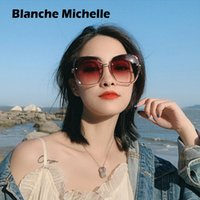 Wholesale sunglasses mujer resale online - Blanche Michelle Fashion Oversized Sunglasses Women UV400 Brand designer Rimless Square Sun Glasses Female lentes de sol mujer Y200415