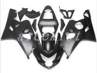 motocicletas gsxr plásticos venda por atacado-Novo conjunto de carenagens de moto de plástico ABS Fit for Suzuki GSXR 600 750 04 05 Conjunto de carenagem GSX-R600 R750 2004 2005 cor preto fosco
