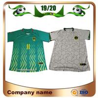 camiseta corta del equipo al por mayor-Nueva camiseta de fútbol de Mauritania 2019 19/20 Mauritania # 11 BESSAM Camiseta de fútbol Camiseta de manga corta para hombre Equipo nacional de fútbol uniforme