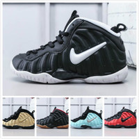 kızlar için denim spor ayakkabıları toptan satış-Erkek Penny Hardaway basketbol ayakkabıları çocuk Siyah Altın kızlar Habanero Denim Jeans Krom çocuklar Beyaz posite köpükler bir pro sneakers ayakkabı boyutu