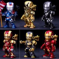 modelo de decoración al por mayor-Hombre de hierro de la aleación del metal de la muñeca 15 cm de alta calidad Juegos de construcción colección de la decoración de Iron Man Los mejores regalos para los juguetes para niños